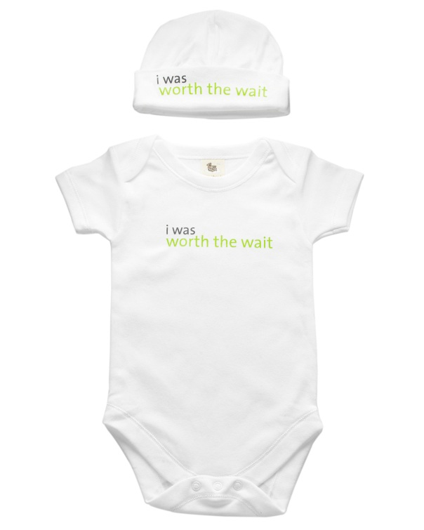 worth the wait onesie